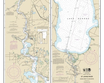 2013 Map of St Johns River & Lake George Florida