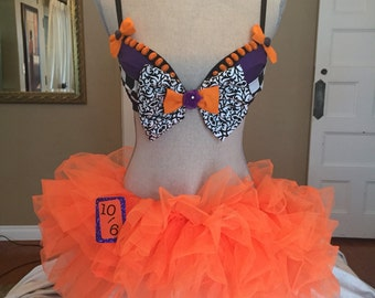 Mad Hatter Costume Bra
