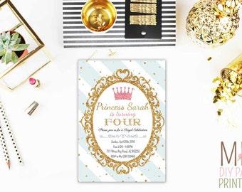 Glitter Royal Invite_2,Princess Crown Invite,Crown Invitations,royal princess baby boy shower,royal invitation,princess invite