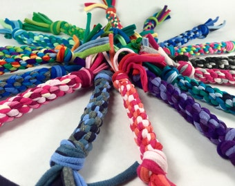 MINI SIZE Rope Dog Toy in CUSTOM colors made from Upcycled T-shirts