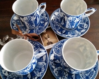 Fine porcelain tea cups