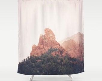 western shower curtain bathroom curtain shower curtain sedona arizona wild west western decor western bath arizona