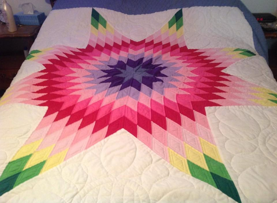 Lone Star Quilt Pattern Queen Size : Lone Star Quilt by DenasCustomQuilts on Etsy