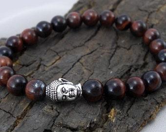 Buddha bracelet and Red Tiger eye