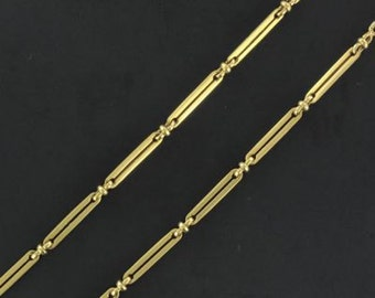 Old gold watch chain