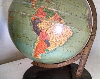 1948 Replogle 12 Inch Reference Globe