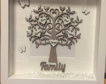 Beautiful family tree in a chunky 9x9 frame