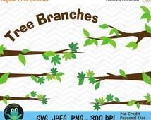 75% OFF SALE Tree Branches Clipart, Tree Limbs Clipart, Branches Clipart, Tree Branch Elements, Commercial Use - UZ820