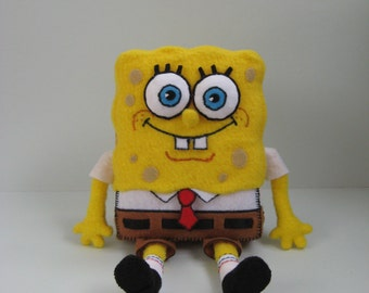 SpongeBob Squarepants. Handmade Plush Toy.