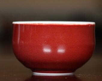 Ji Hong (Fresh Red) Glazed Porcelain Tea Cup 125 ml