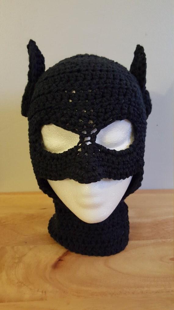 Excelente Crochet Pattern Batman Hat Bandera Manta De Tejer Patrn
