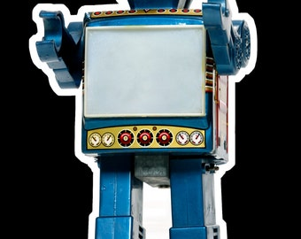 Tin ROBOT fridge magnet
