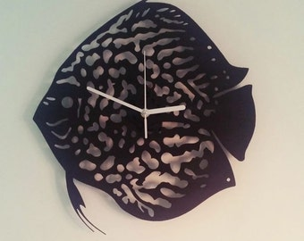 Unique Discus Fish Wall Clock