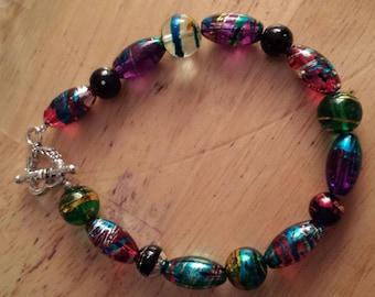Glass Spiral Bracelet