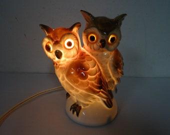 dubbel owl lamp germany 1940-50