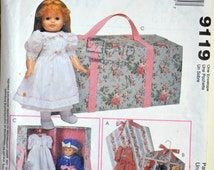 "Uncut 1990s McCall's Crafts Vintage Sewing Pattern 9119; Carry Case and Accessories for 18"" Doll"