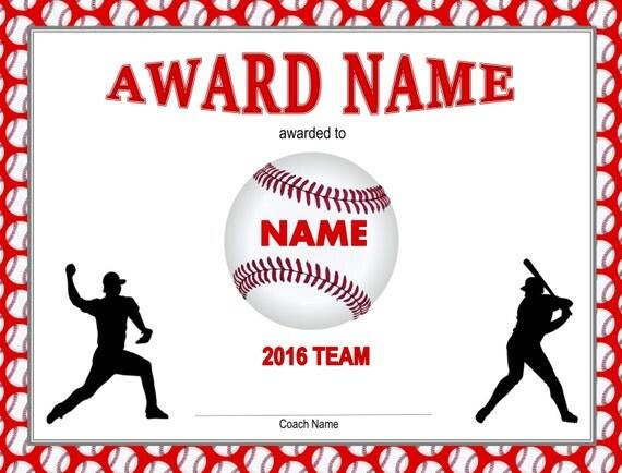 Printable baseball certificate player pack baseball for Baseball certificates templates free