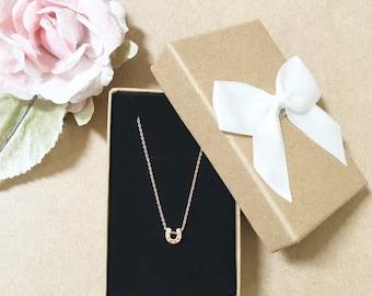 Horseshoe Necklace ~ Silver/Gold/Rose Gold