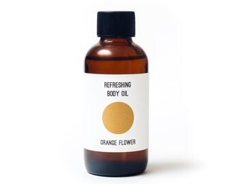 Orange Flower Body Oil / Massage Oil / Neroli Body Oil / Organic Skin Care /Organic Body Oil / Orange Body Moisturizer / Orange Bath Oil
