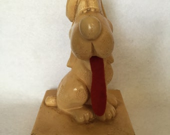 1960's kitsch French kissed dog