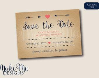 Custom Save the Date Invitation