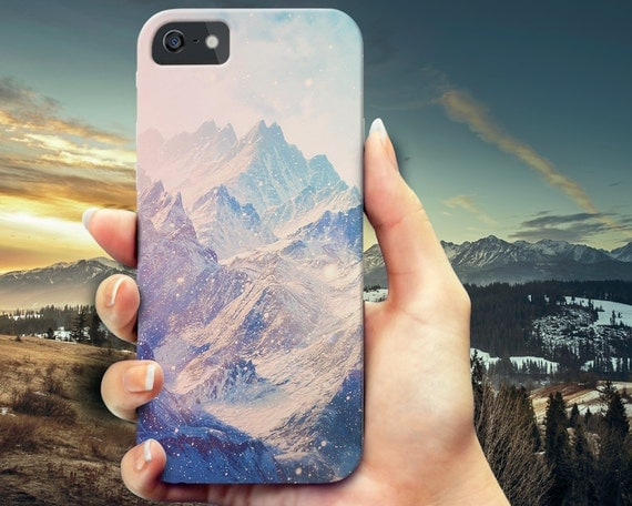 Colorful Mountains iPhone 6 case, iPhone 6s Plus, iPhone 6 case,  Samsung Galaxy s5 phone case, Galaxy s6 wood case, iPhone 5 5s