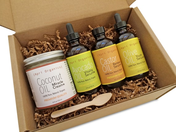 Beauty Box Oil Gift Set All-Natural Organic Hair & Skin