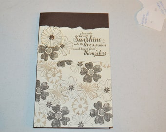 5x7 Notepad Cover - Stampin Up