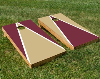 Cornhole Board Decals with Florida State Seminoles Colors (Red and Gold)