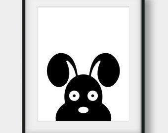 50% OFF Dog Print, Nursery Print, Black and White Nursery Art, Scandinavian Print, Dog Poster, Printable Art, Nursery Poster