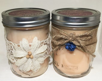 Georgia Peach--Mason Jar Candle