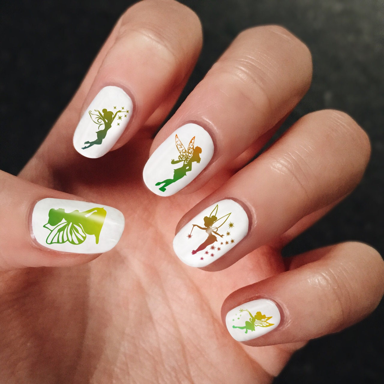 Tinkerbell Nails: Tinkerbell Art 300 Nails Decals Art Nail Polish Vinyl Stickers
