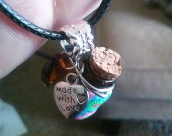 Necklaces, fairy wishing bottles, and memory pendants