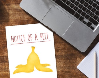 Notice Of A Peel Digital 8x10 Printable Poster Funny Lawyer Pun Notice Of Appeal Laws Legal Puns Lawyers Punny Banana Peel Lawschool Appeals