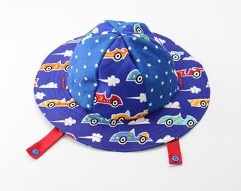 Reversible Speed Racer Boys Sun Hat