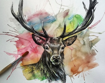 Stag (Print) A3