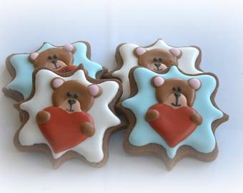 Personalized Teddy Grams Sugar Cookies