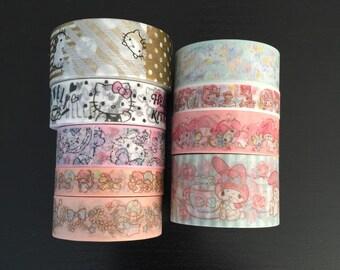 """24"""" SAMPLES of Sanrio washi tape (SA01)"""