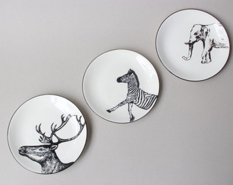 Animal Print Porcelain Plate