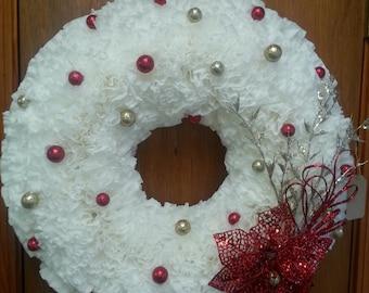 Coffee Filter White Christmas Wreath