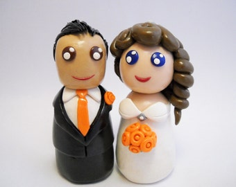 wedding cake toppers, clay cake toppers, polymer clay toppers, polymer clay,  custom cake toppers, polymer clay kokeshi, kokeshi cake topper