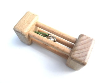 Rattle wood Montessori, rattle Bell, wooden, toy Baby Rattle