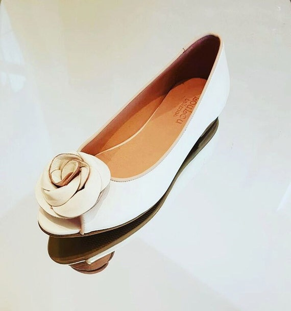 bridal shoes wedding flats white shoes by loulouballerina