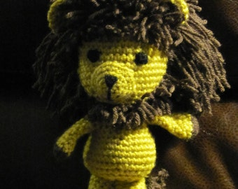 Handmade, crocheted, Amigurumi Lion