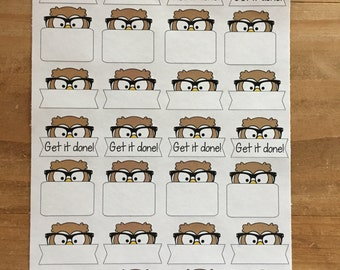 Owl stickers / planner stickers / planner supplies / planner accessories / personal planner / fits happy planner / fits erin condren pla