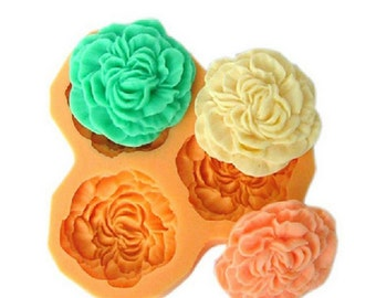 3D Rose Cake Chocolate Candy Deco Mold