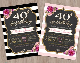 Adult birthday invitation, Adult birthday party invitation, Adult invitations, Adult party invitations, birthday invitation adult, woman,