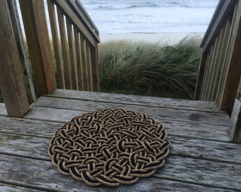 Round nautical doormat