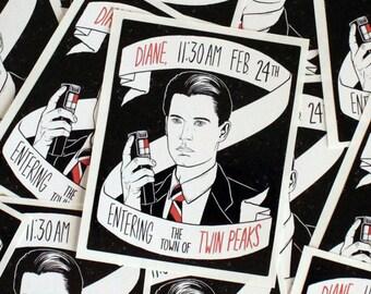 Twin Peaks Agent Dale Cooper Sticker