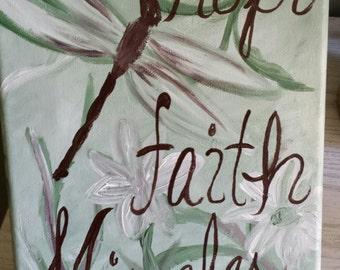 Acrylic Hope, Faith, Miracles